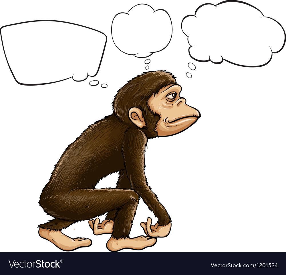 An ape thinking vector