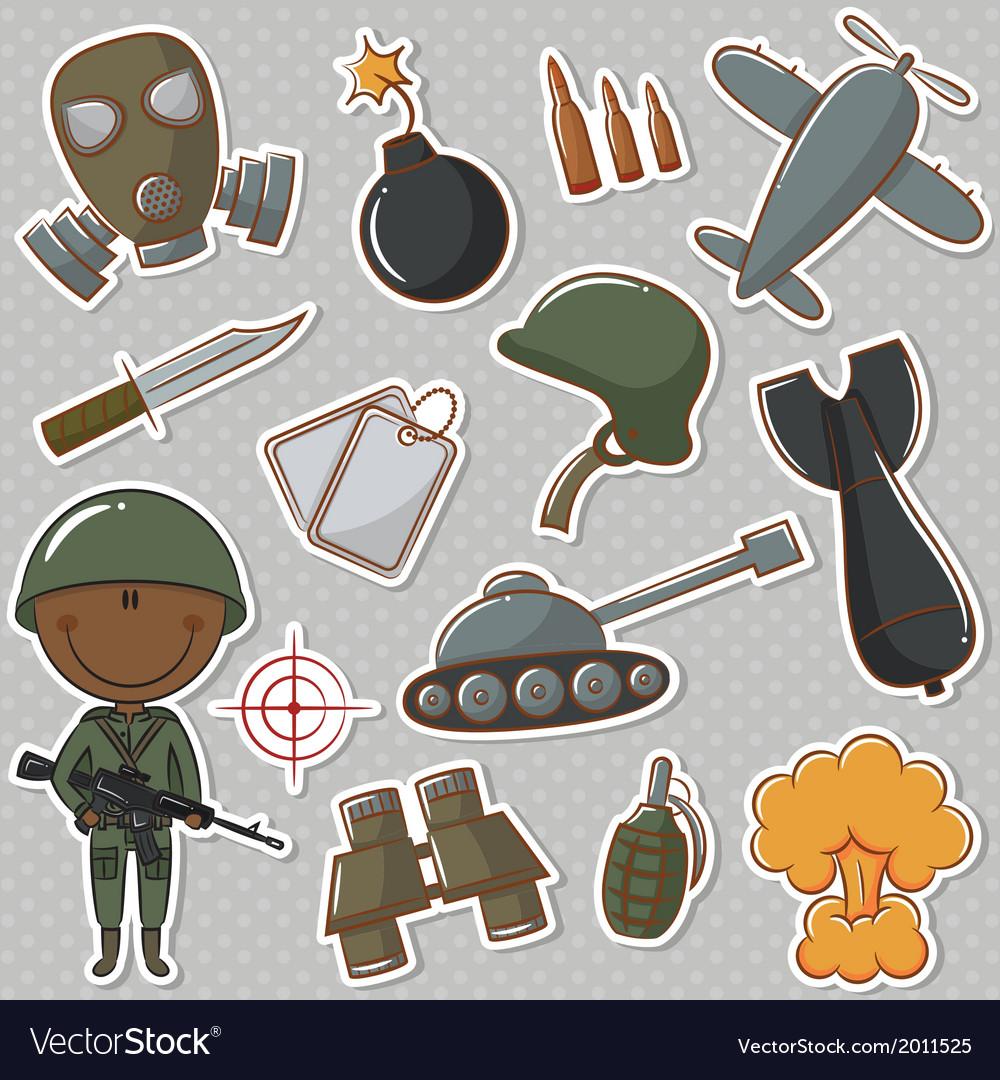 African-american soldier vector