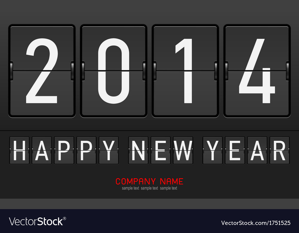 Mechanical letters happy new year vector