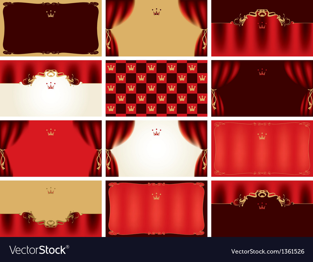 Card theater vector