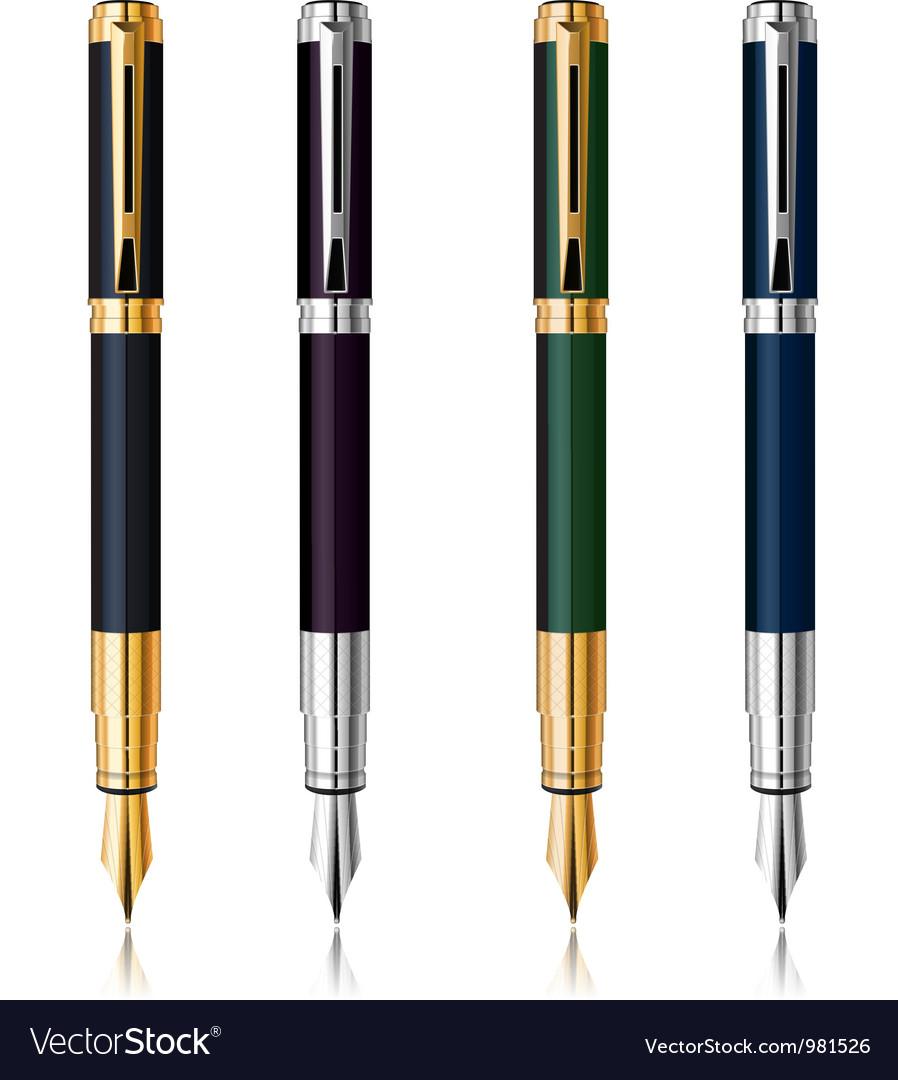 Classic pen set vector
