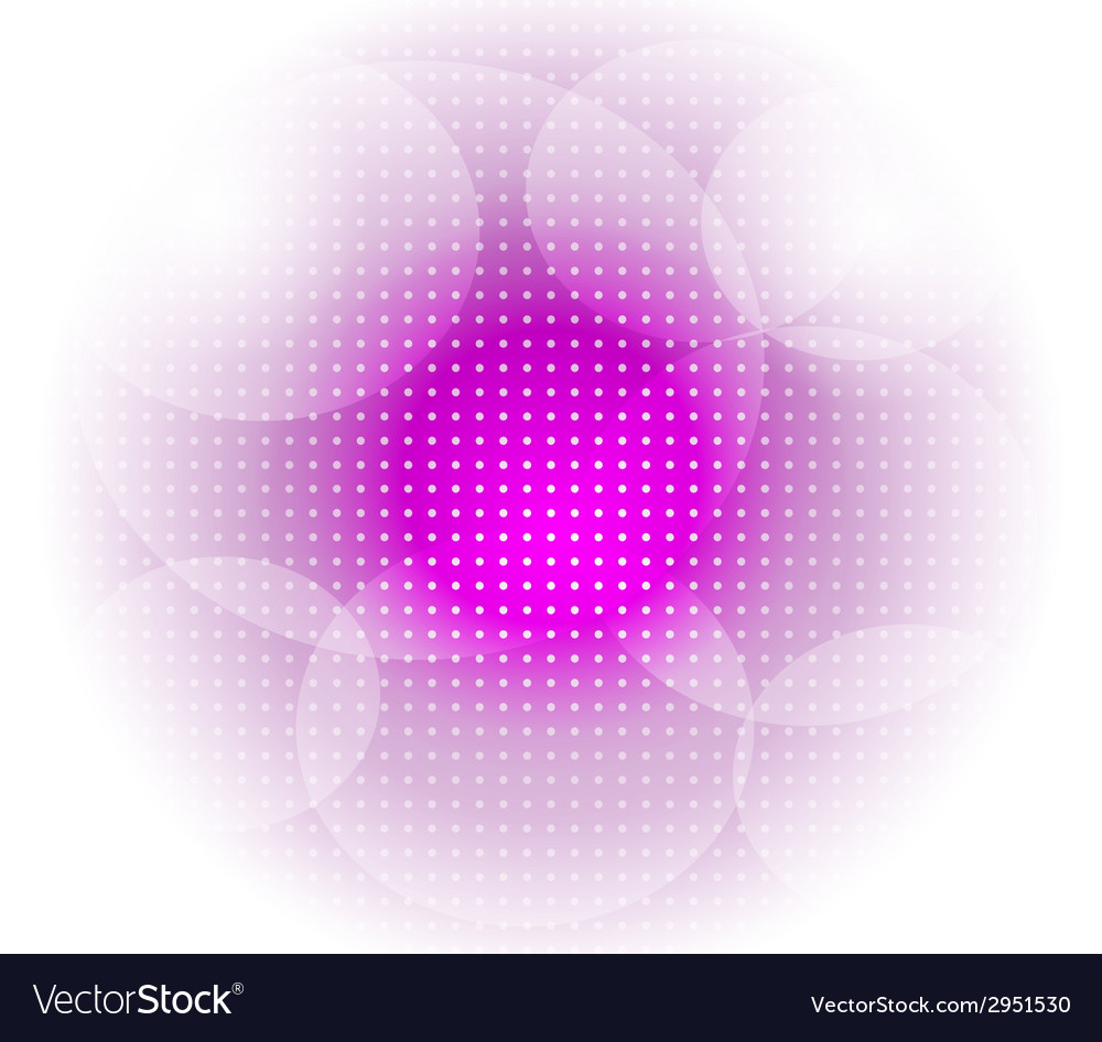 Light purple dot circle background vector
