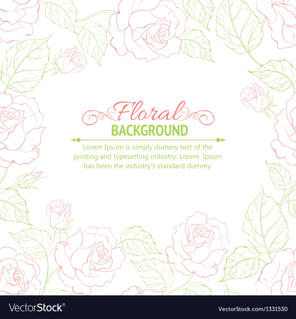 Pink romantic frame vector