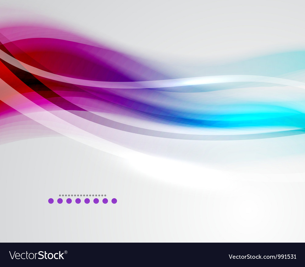 Colorful wave business template vector