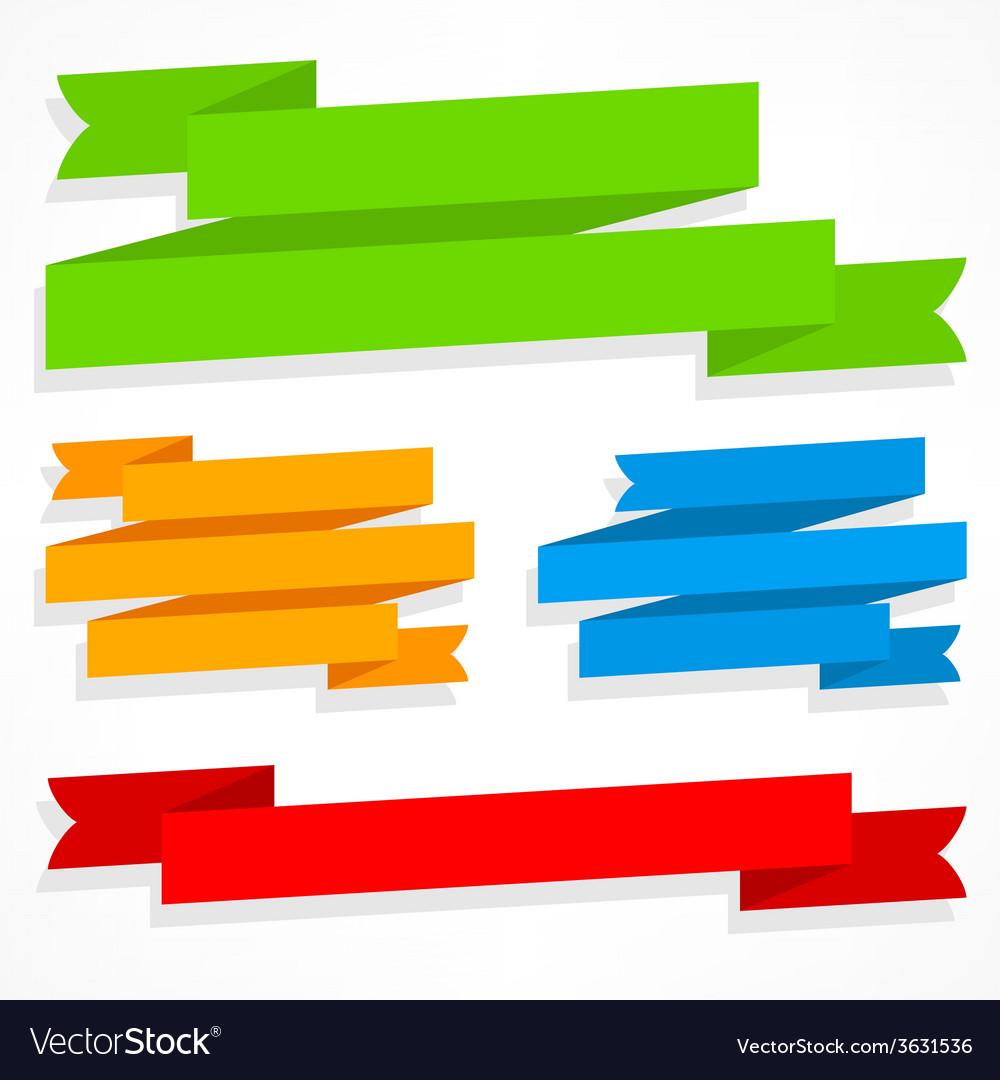 Color ribbons set vector
