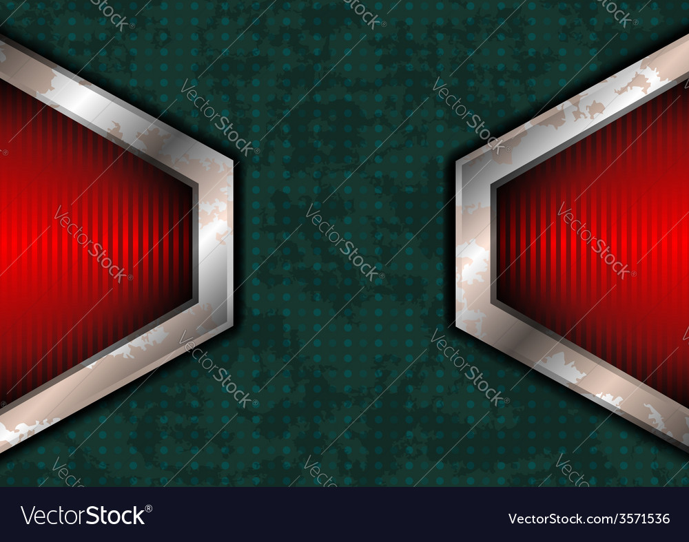 Rough dotted surface with red lights vector