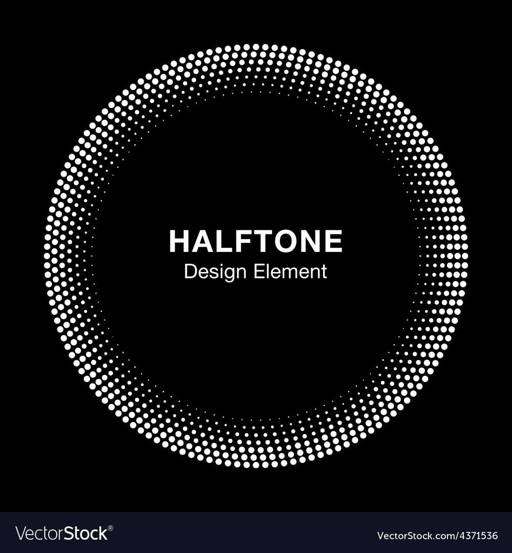 White abstract halftone circle logo design element vector