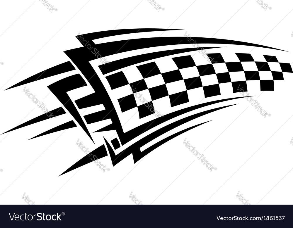 Tribal racing tattoo vector