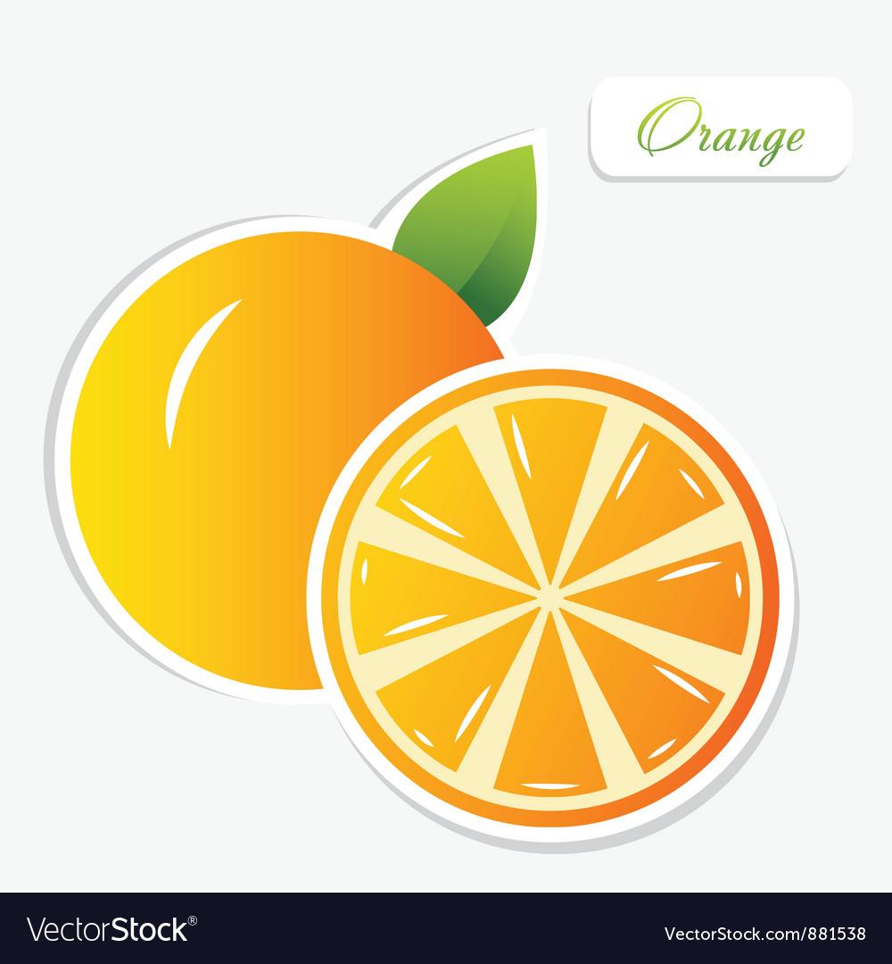 Orange sticker vector