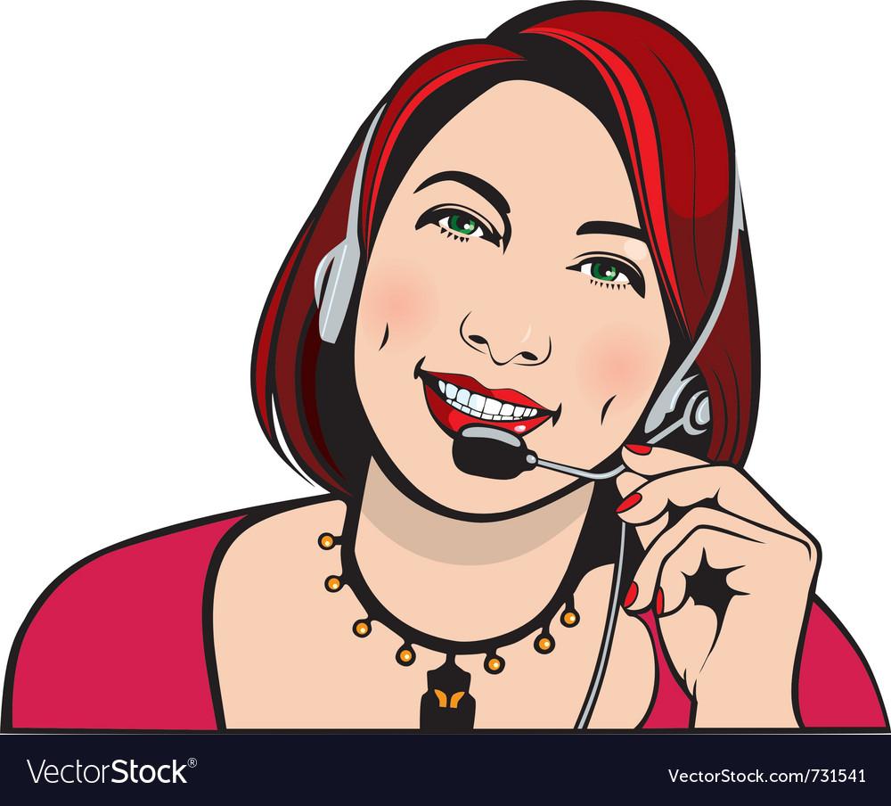 Customer service representative vector