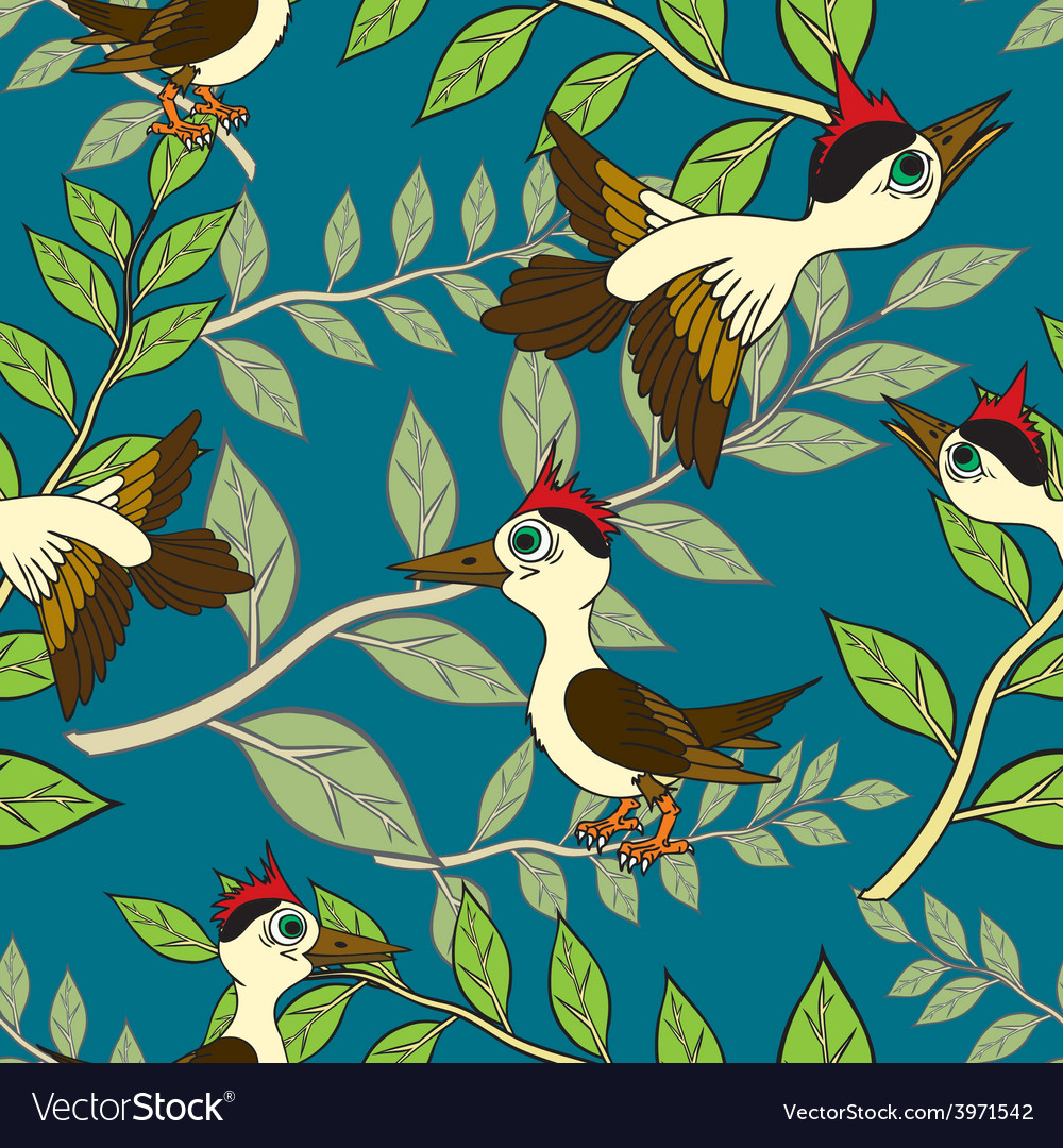 Birds and branches vector