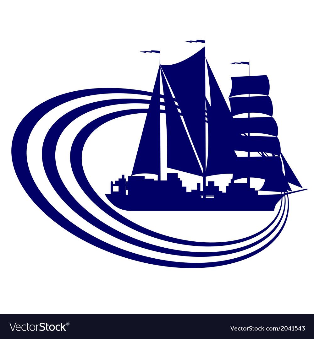 Sailing ship 9 vector
