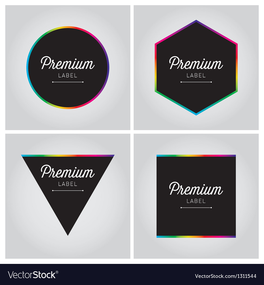 Premium logo label set vector