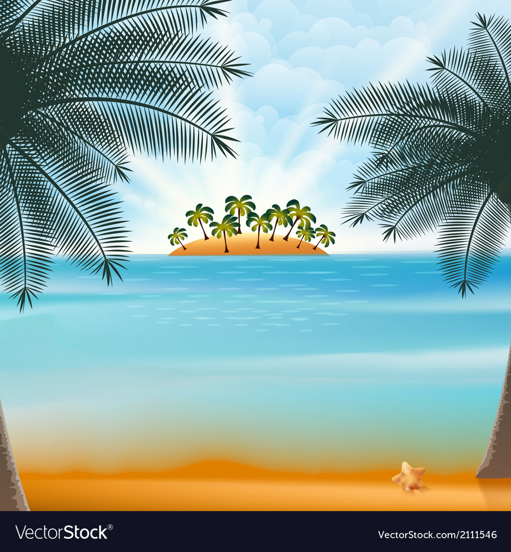 Vacation and summer holidays retro design vector