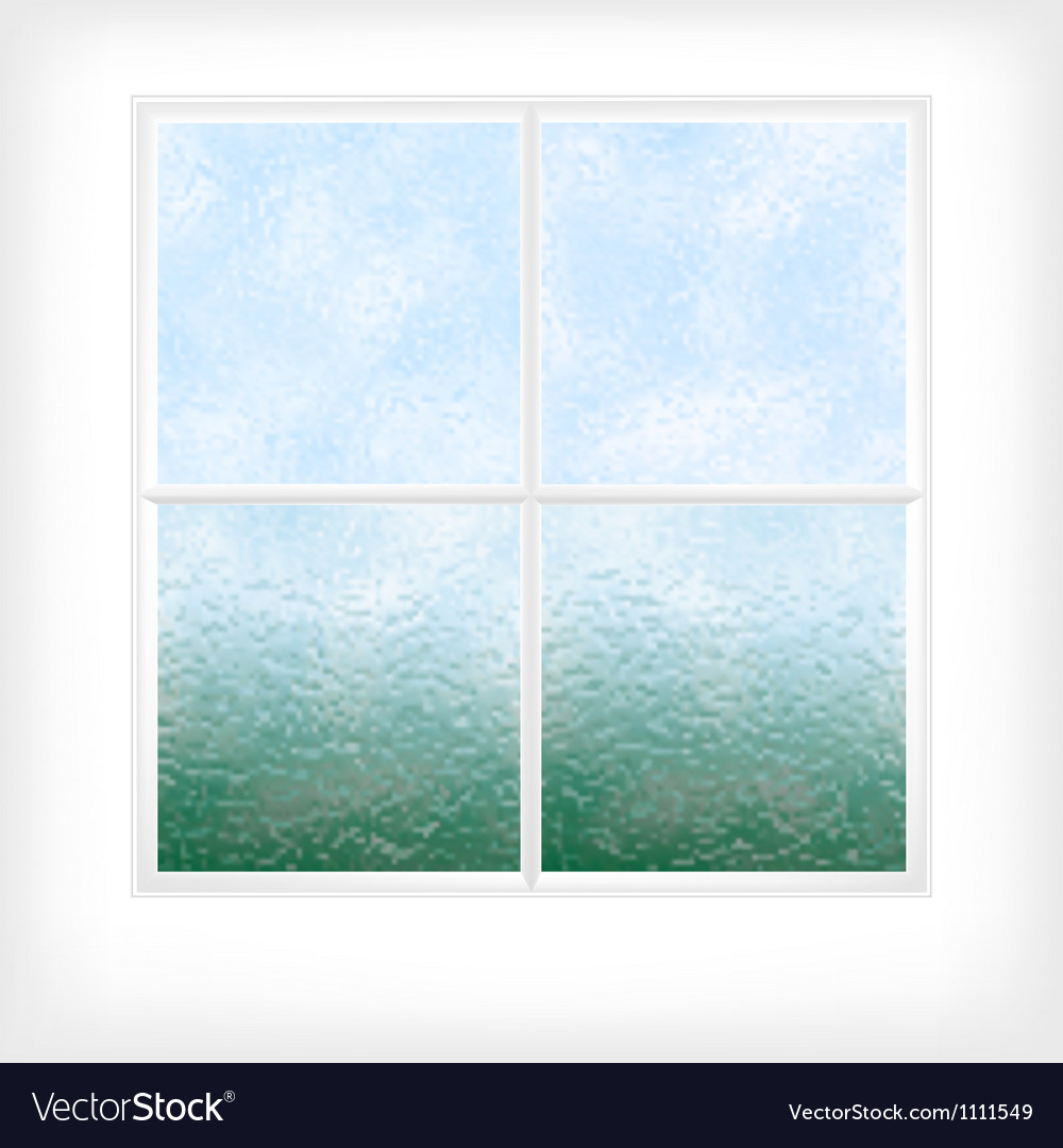 Frosted glass window vector
