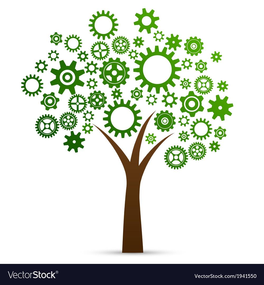 Industrial innovation concept tree vector