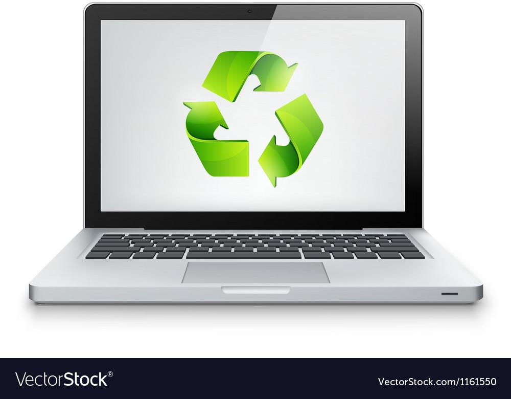 Laptop concept vector