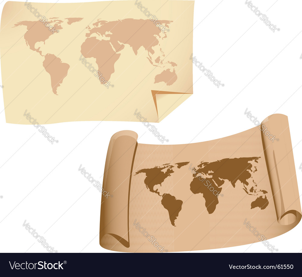 Old maps vector