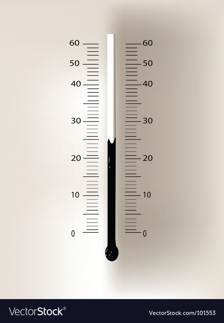 Thermometer idea vector