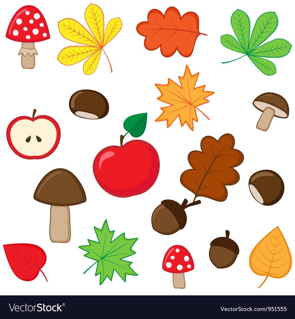 Autumnal set vector