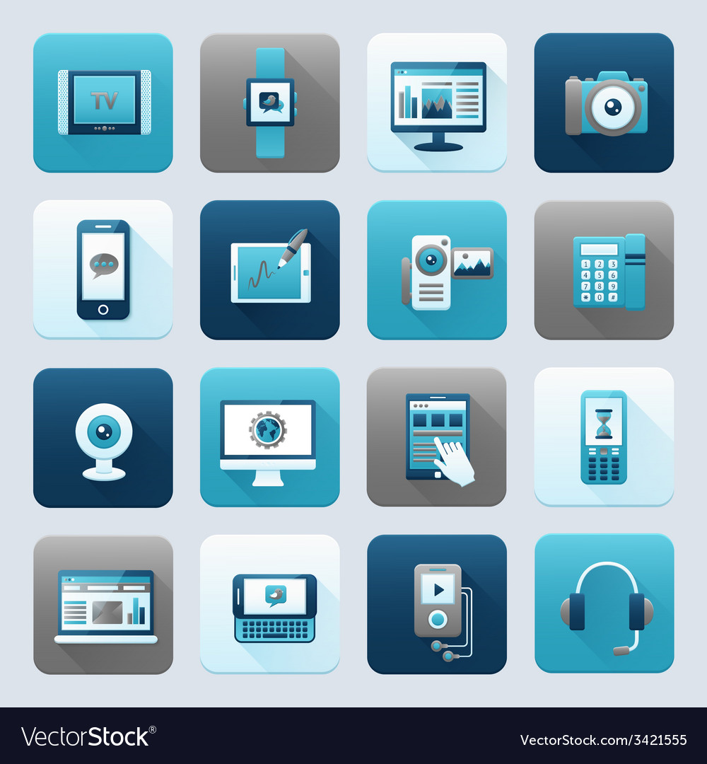 Internet and mobile device vector