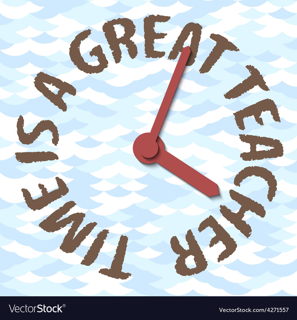 Time is a great teacher concept vector