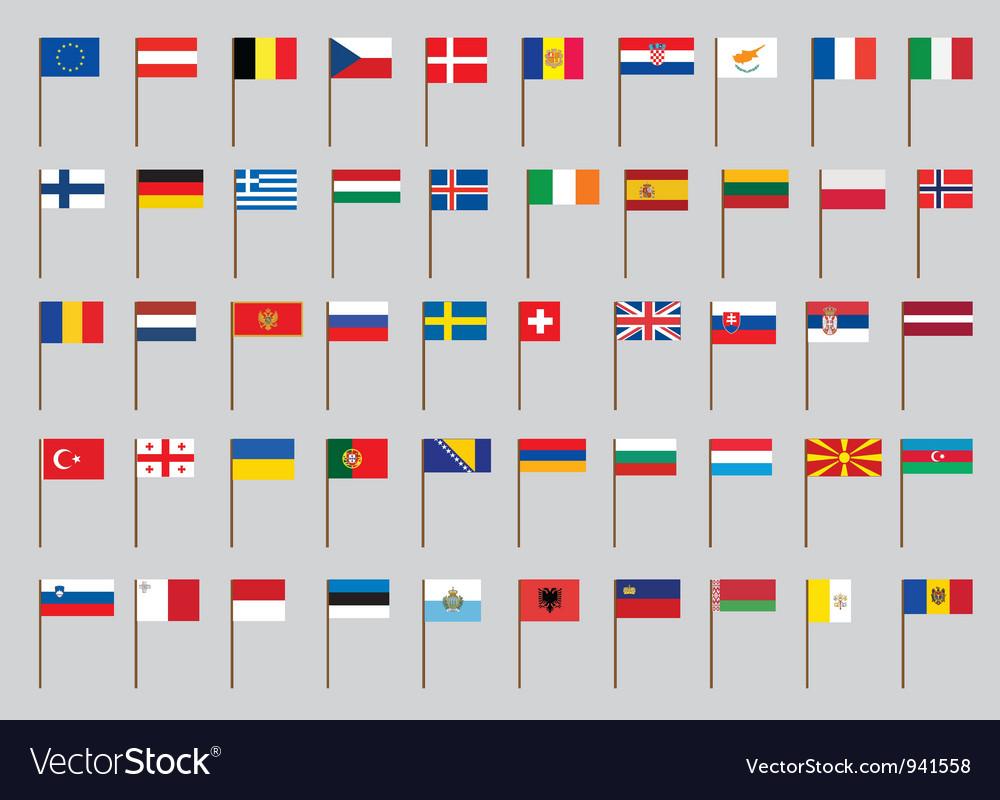 European flags vector
