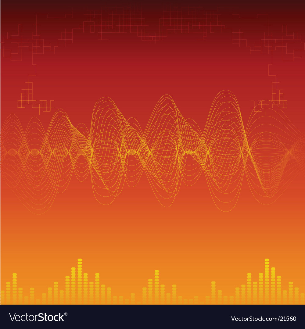 Sound waves background vector