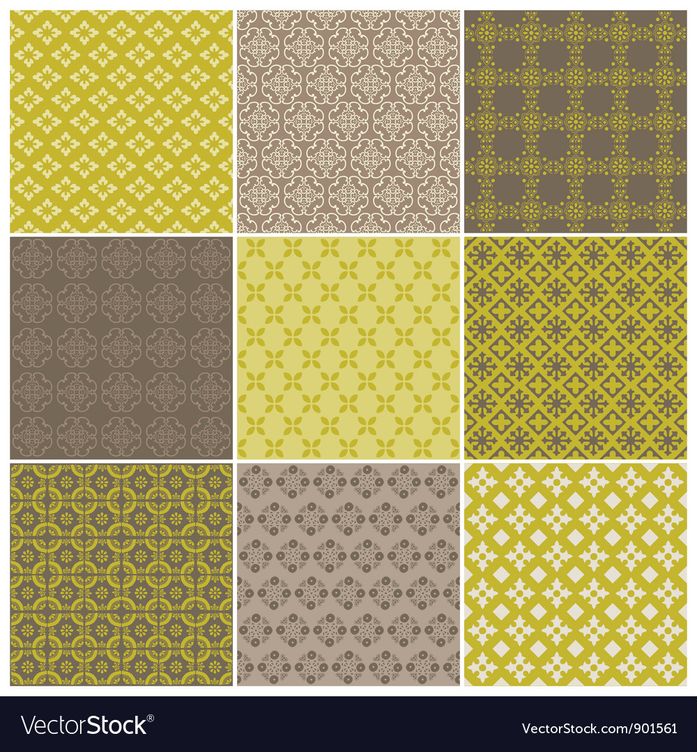 Seamless backgrounds collection vector