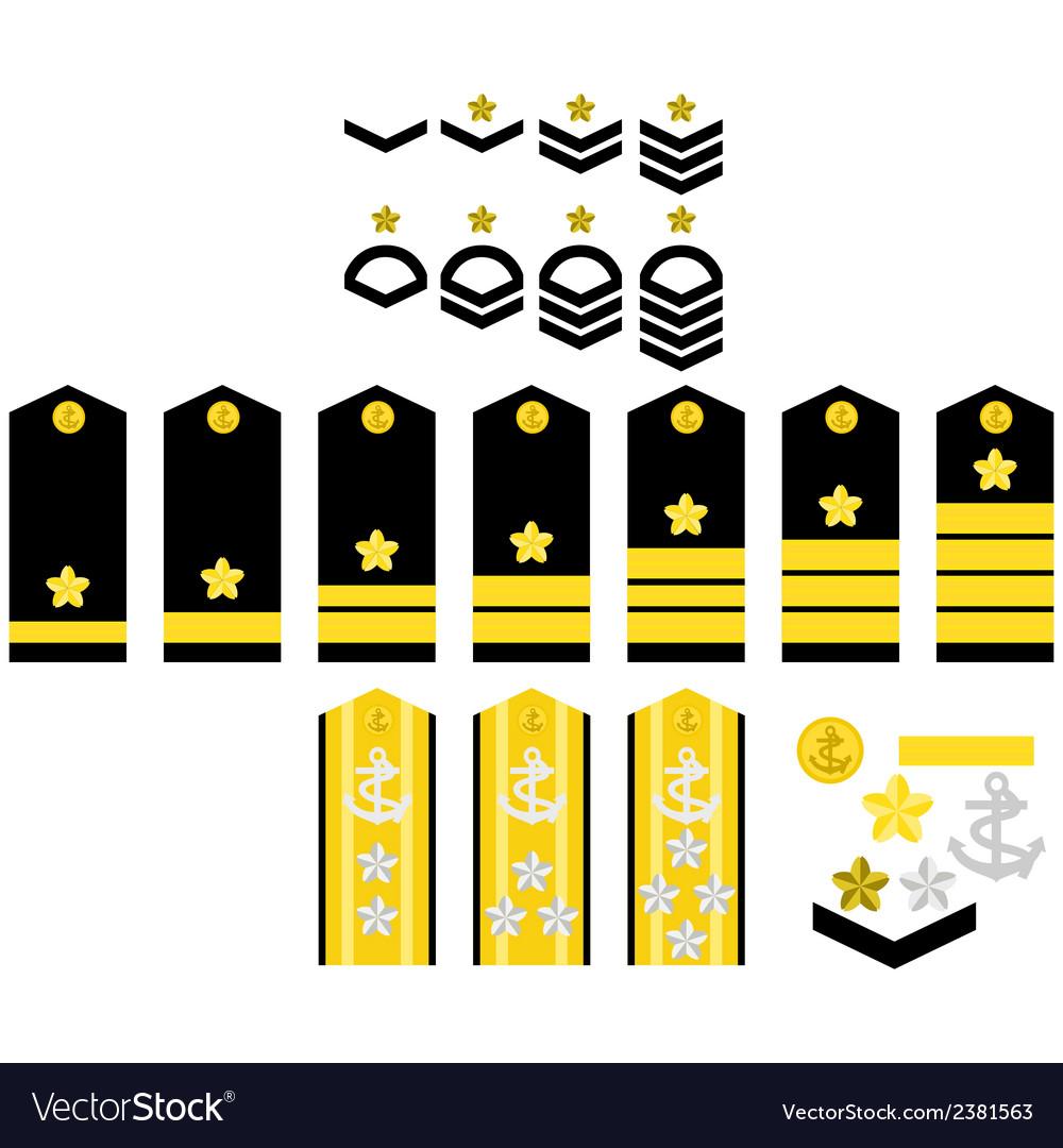 Japan navy insignia vector