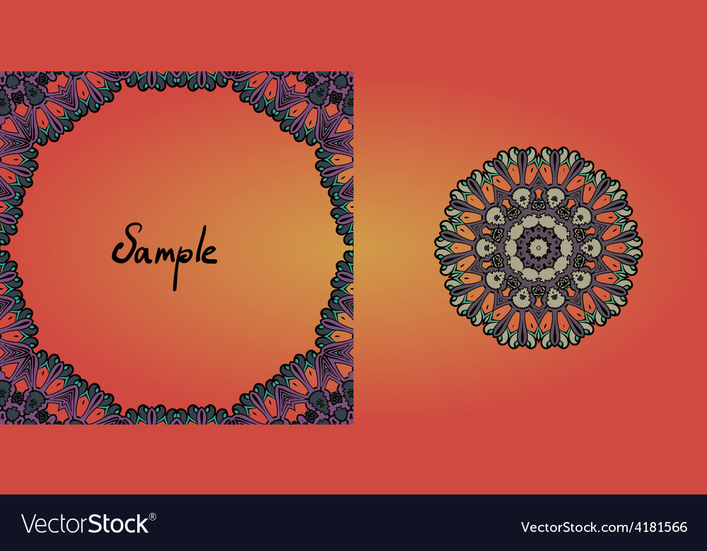 Decorative vintage eastern mandala frame vector