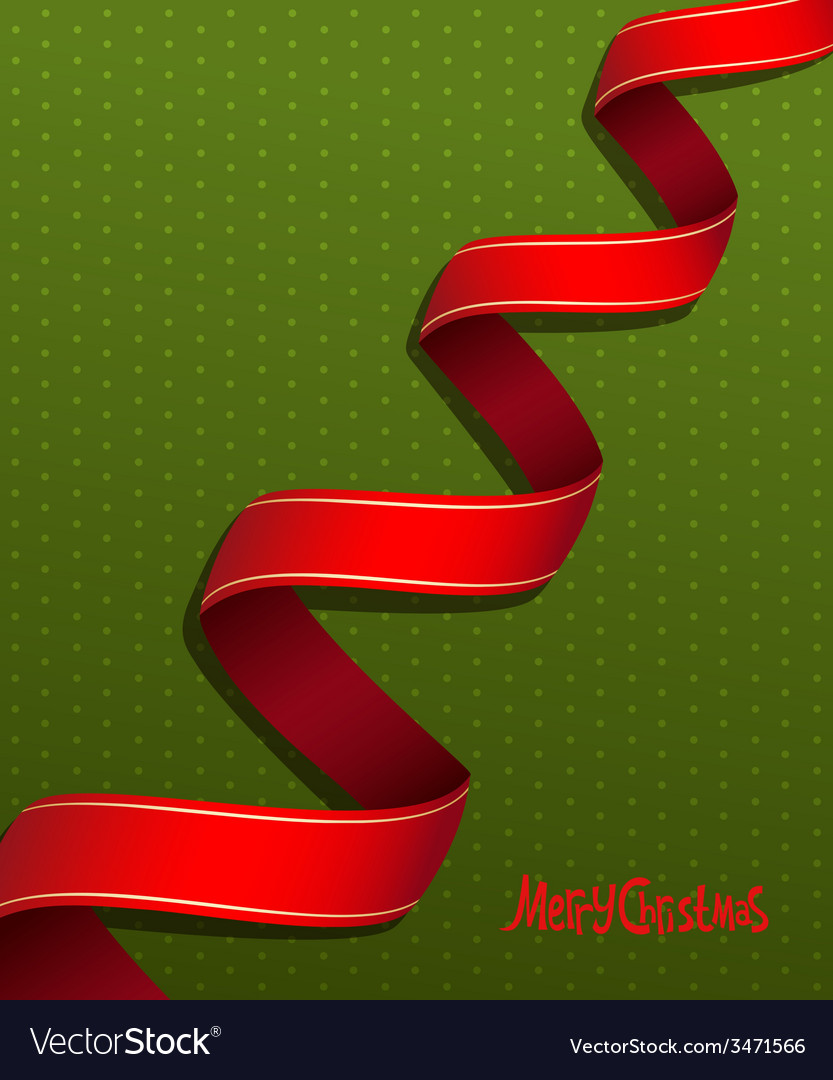 Red ribbon for christmas vector