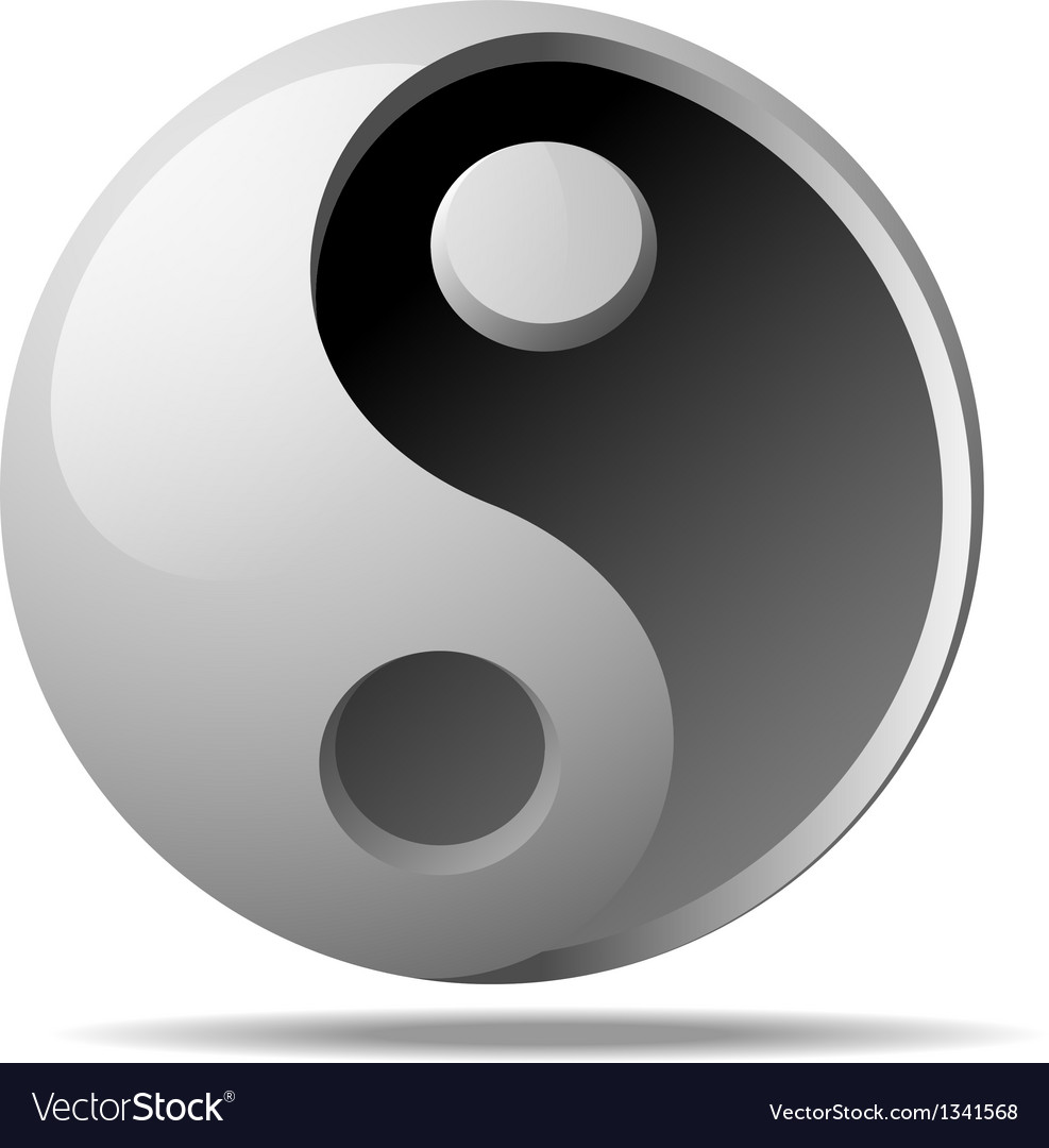 Ying yang sign vector