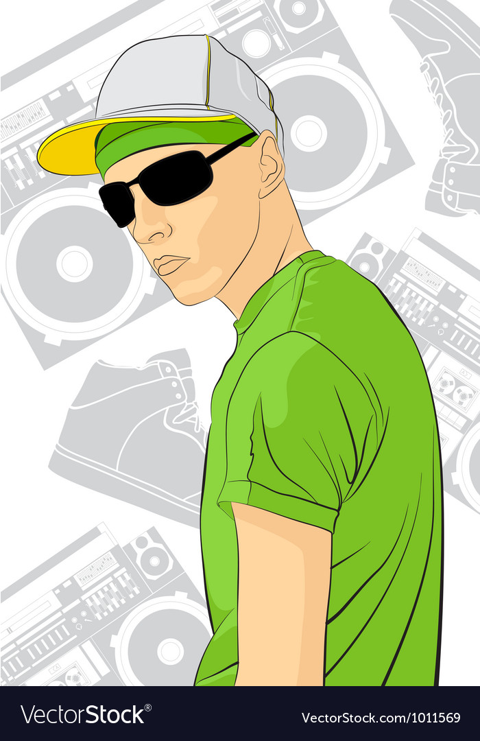 Young man vector