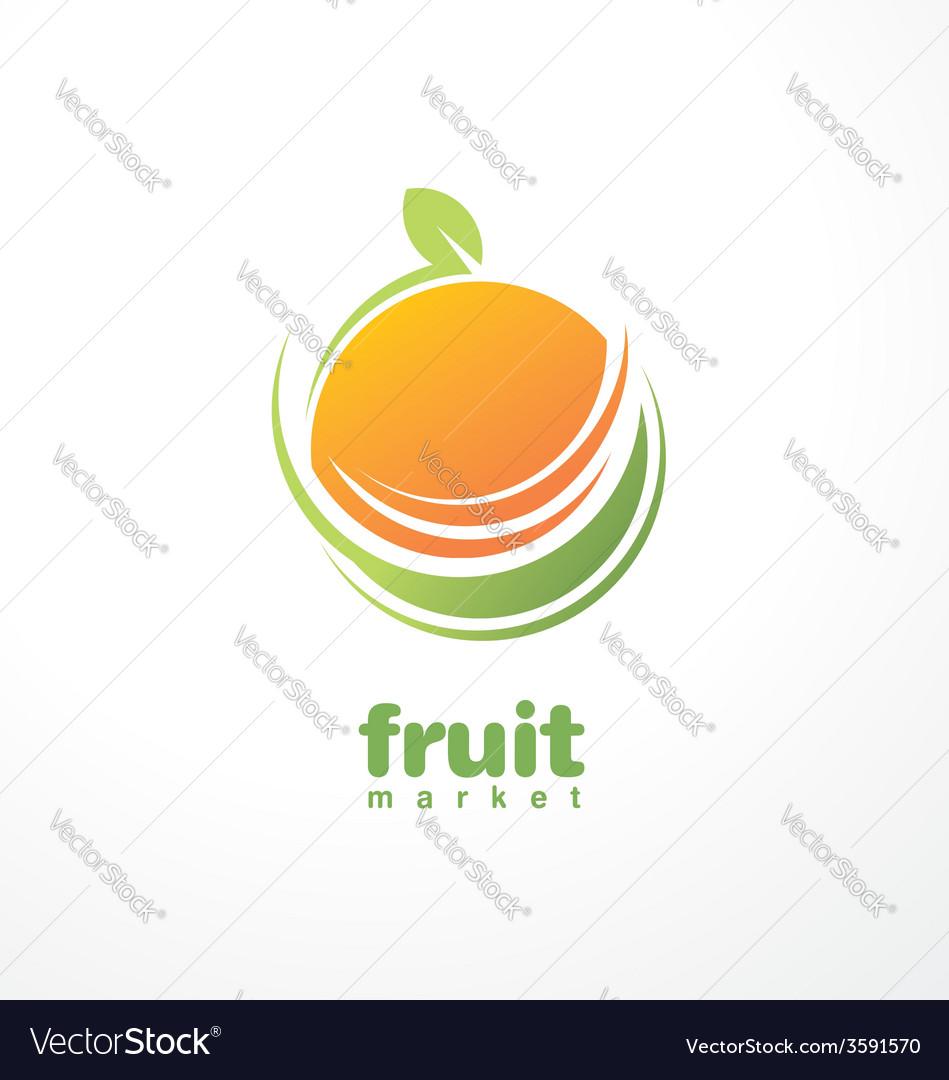Healthy food logo design concept vector