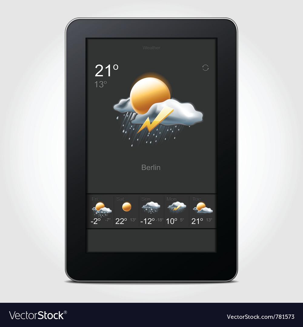Tablet weather vector