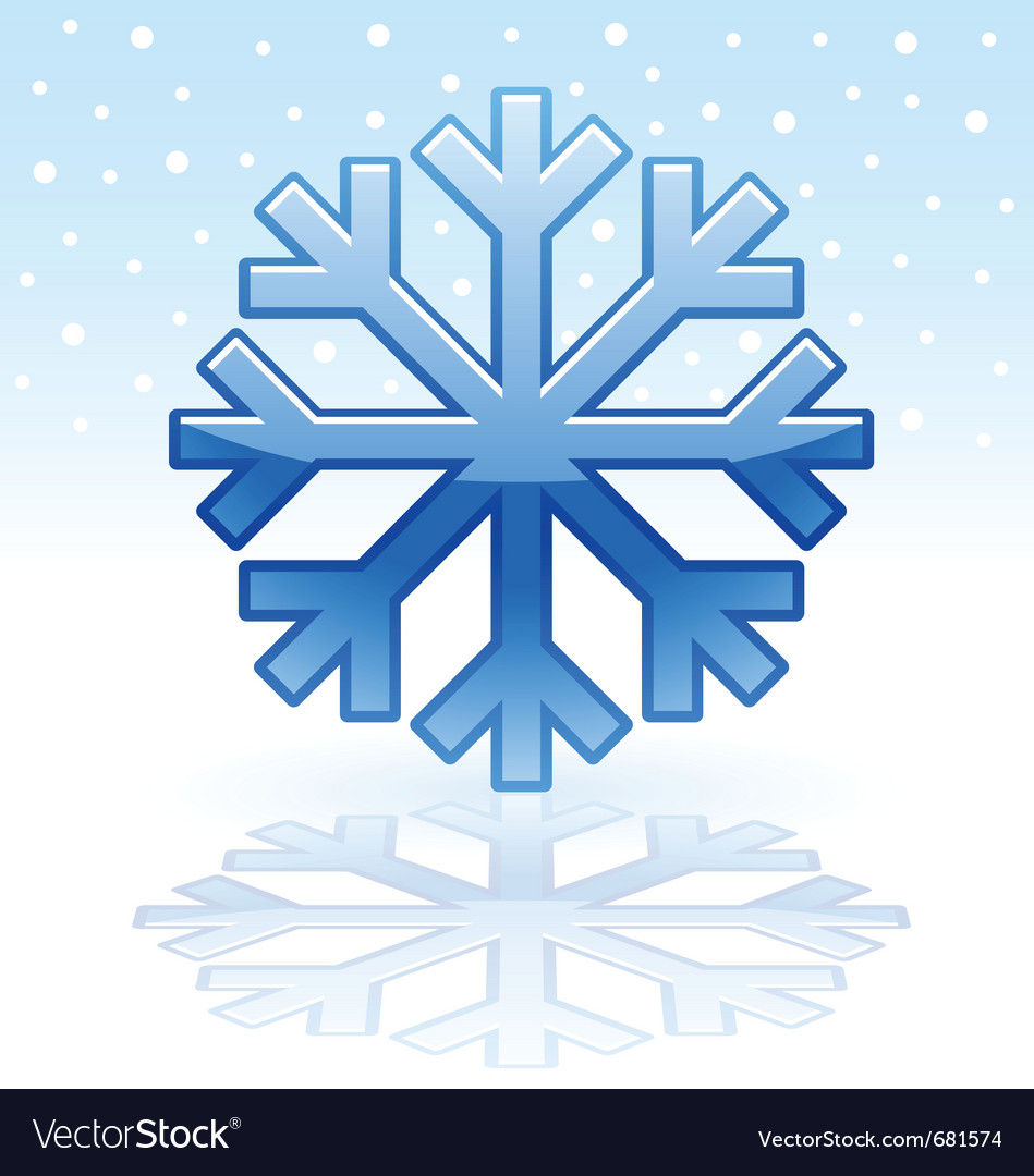 Shiny snowflake icon vector
