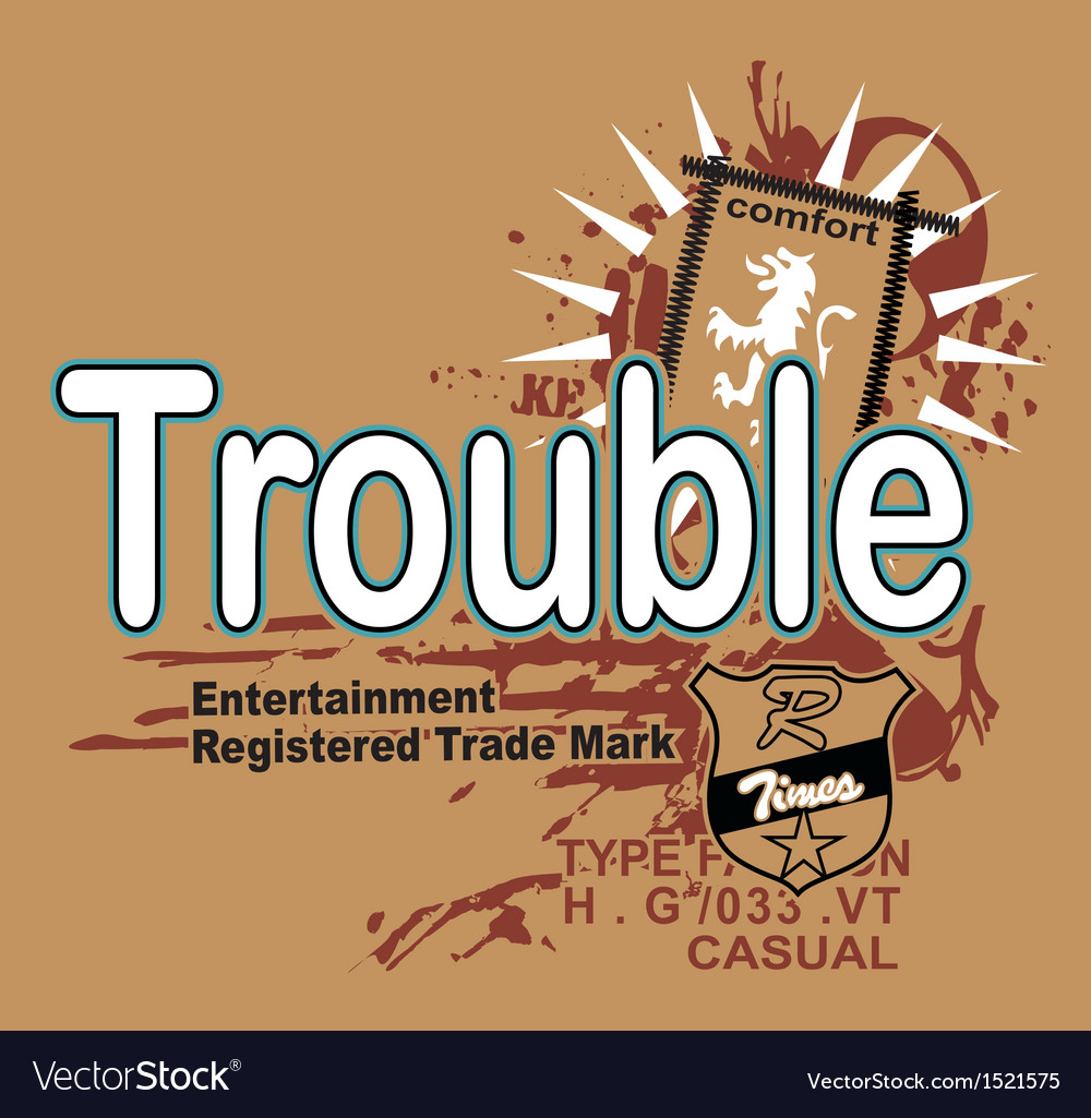 Art of design with the model trouble r vector