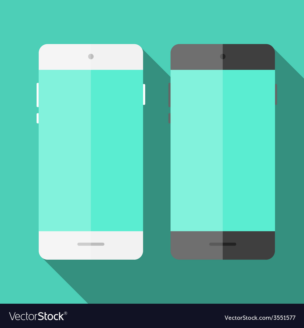 Mobile phone in flat style vector
