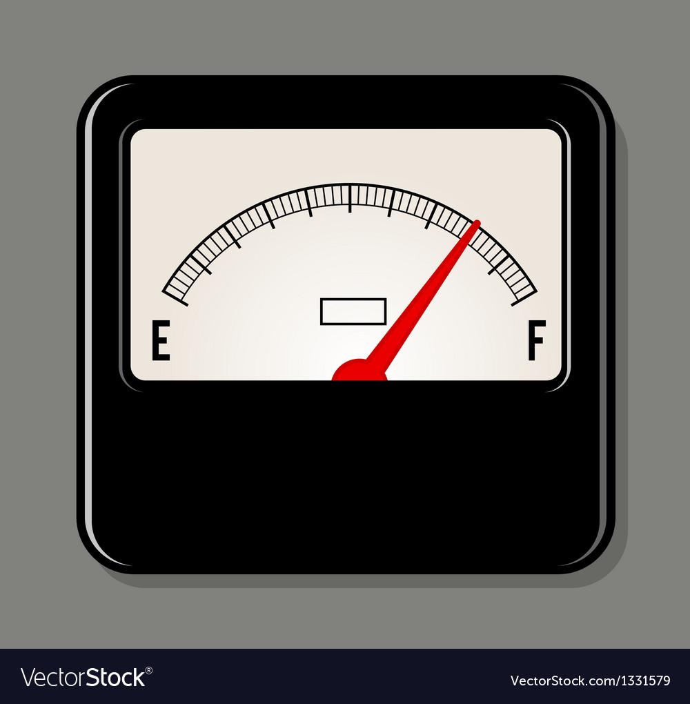 Analog electrical power meter vector