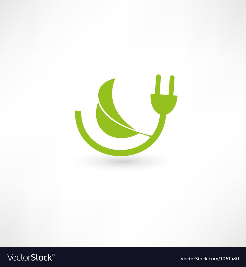 Green energy concept sign vector