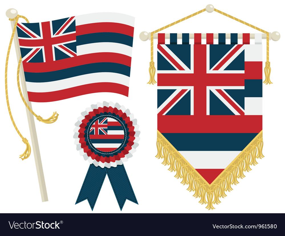 Hawaii flags vector