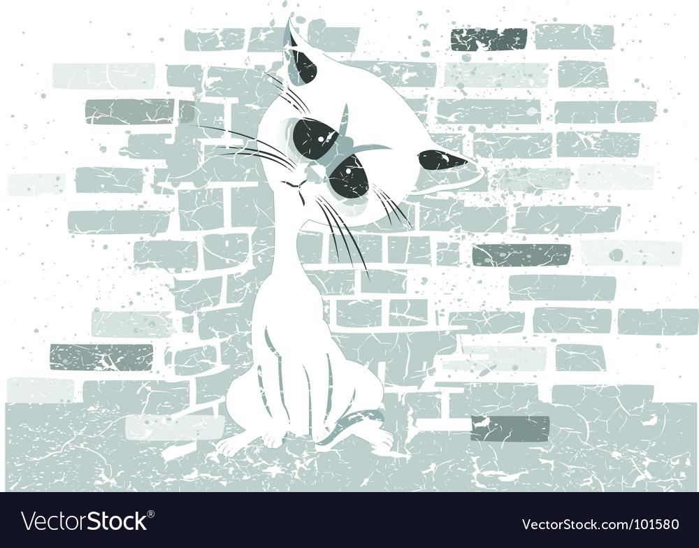 Rough cat graphic vector