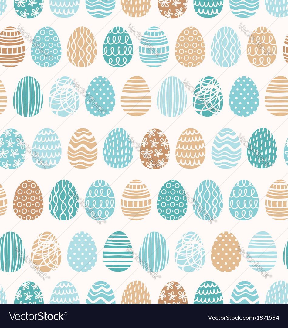 Easter eggs ornaments pattern vector
