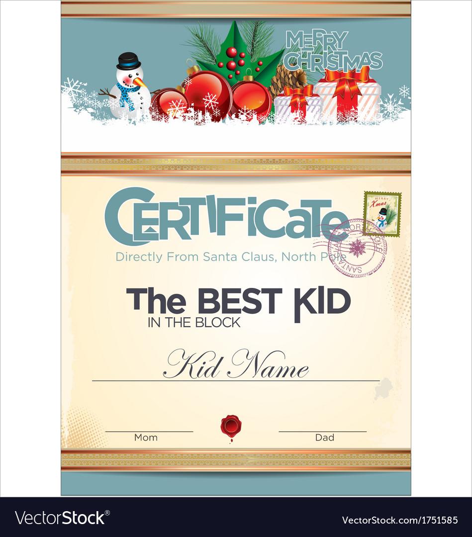 Certificate best kid in the block vector