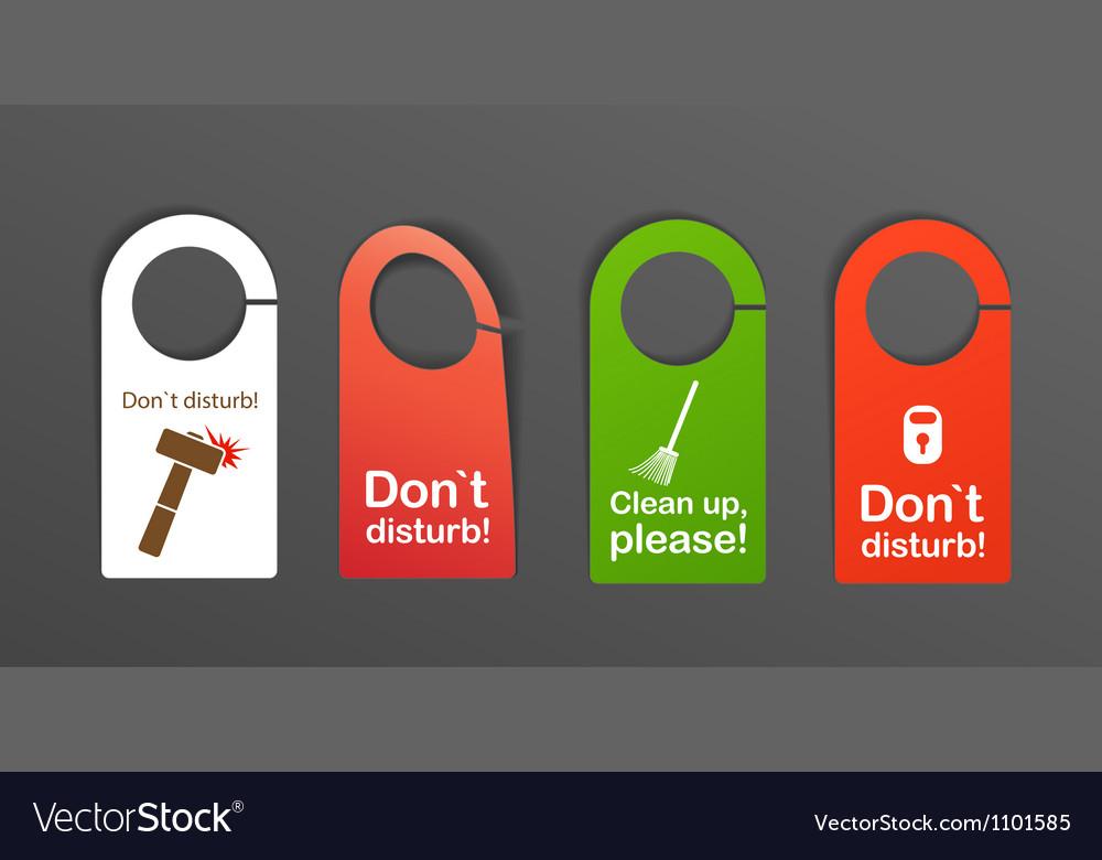 Door signs vector