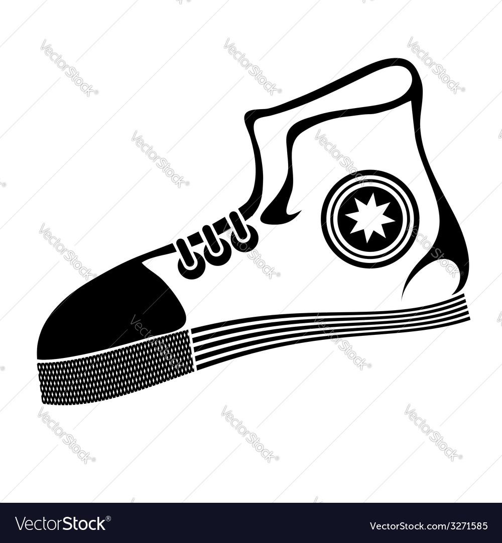Runnig shoe vector
