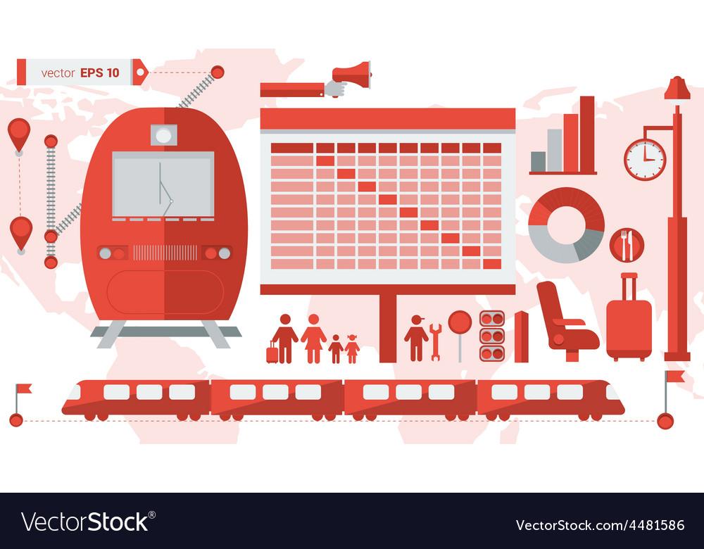 Train infographic 01 vector