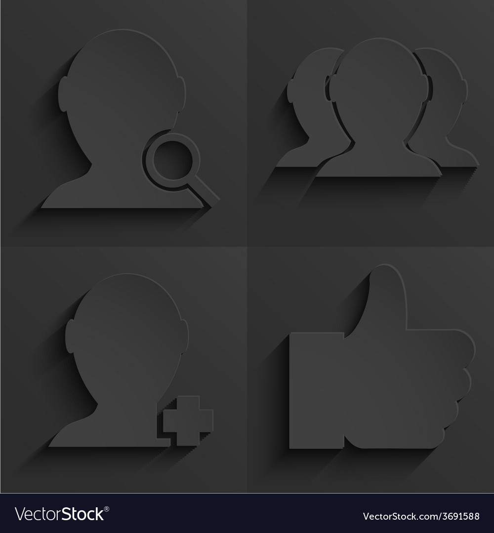 Modern social network icons set vector