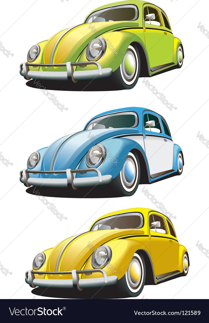 Vintage car set vector
